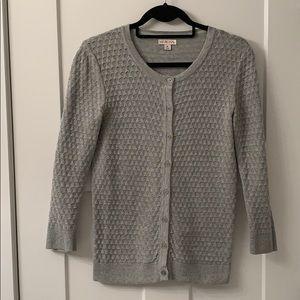 Merona Textured Gray Button Up Cardigan